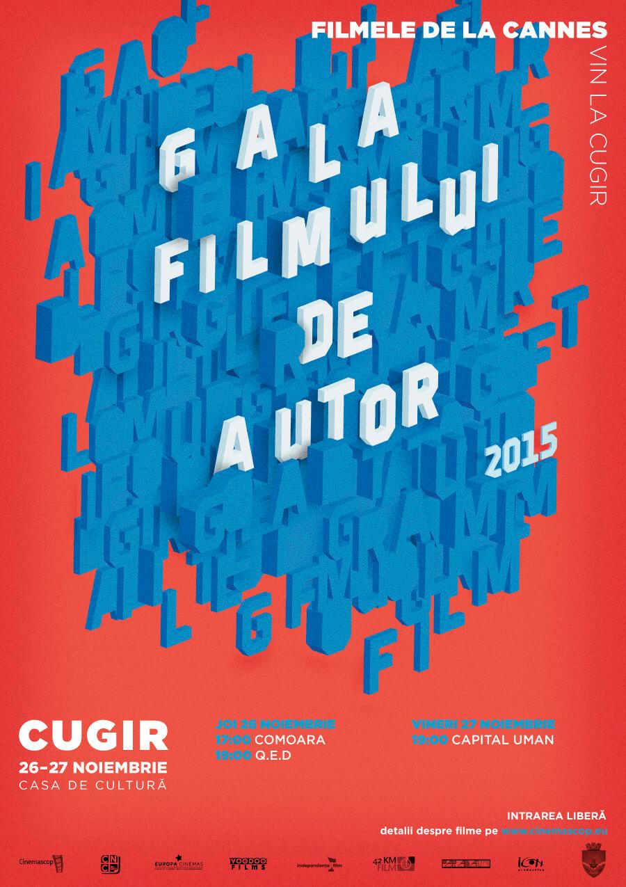 Afiș – Gala Filmului de Autor, Cugir