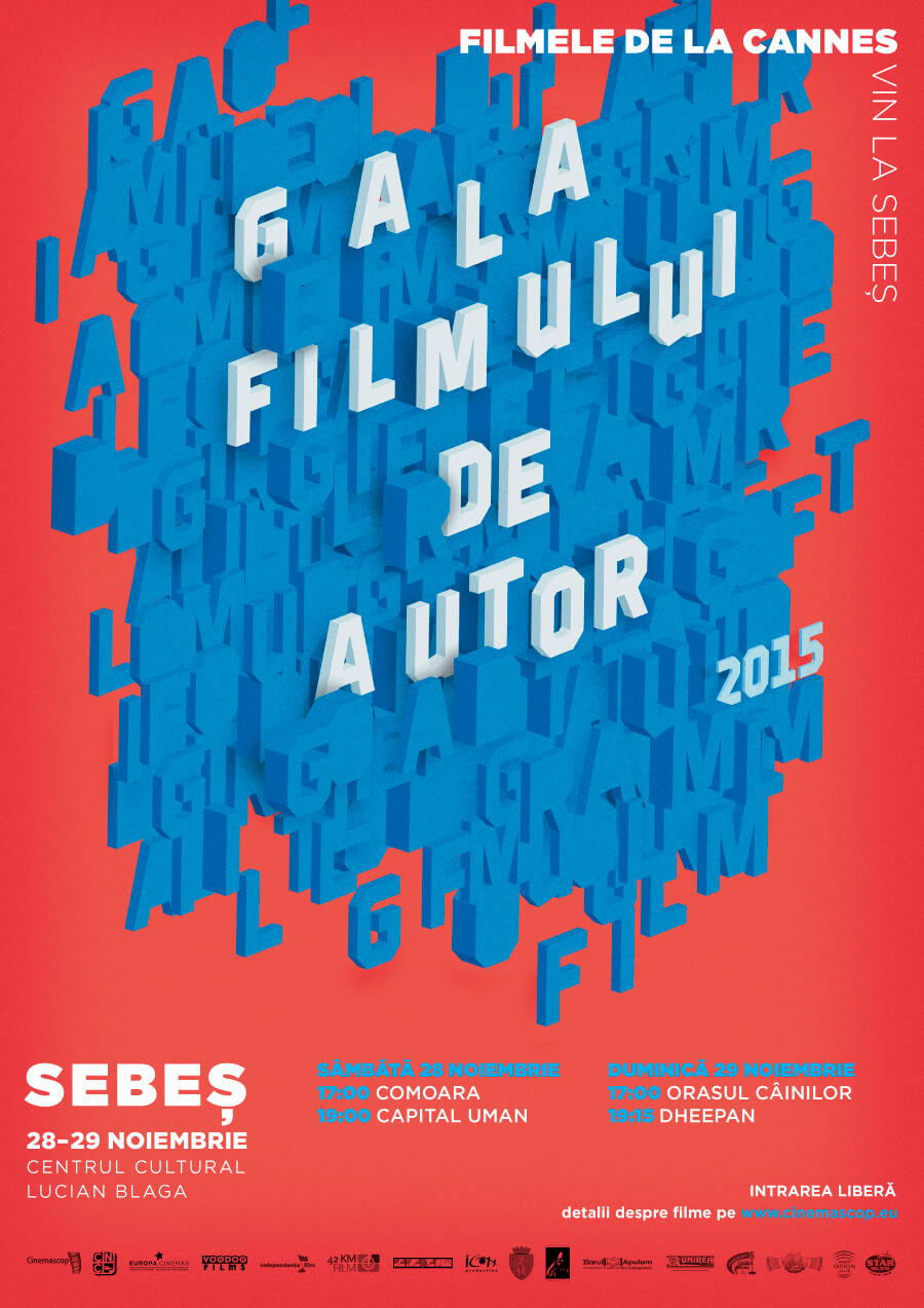 Afiș – Gala Filmului de Autor, Sebeș