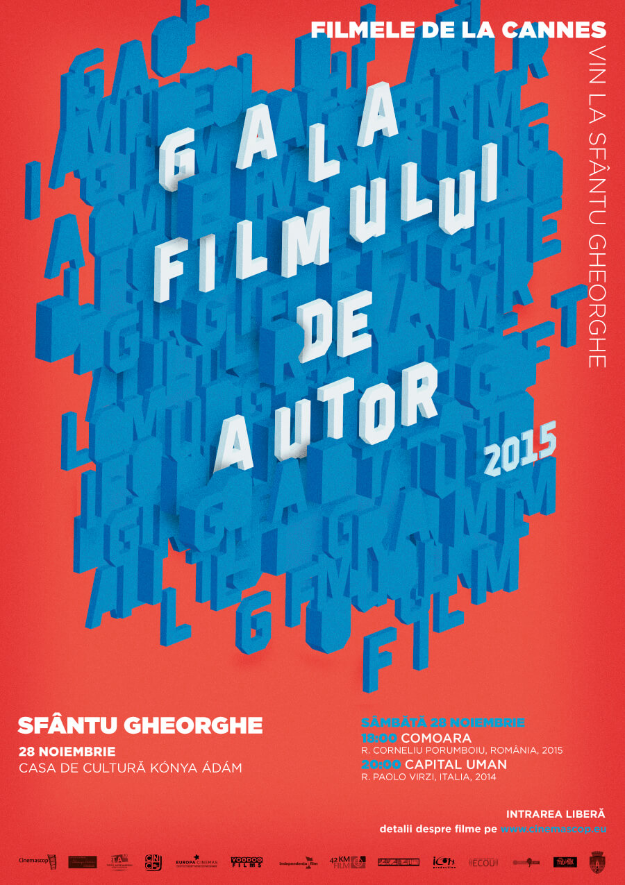 Afiș – Gala Filmului de Autor, Sfântu Gheorghe