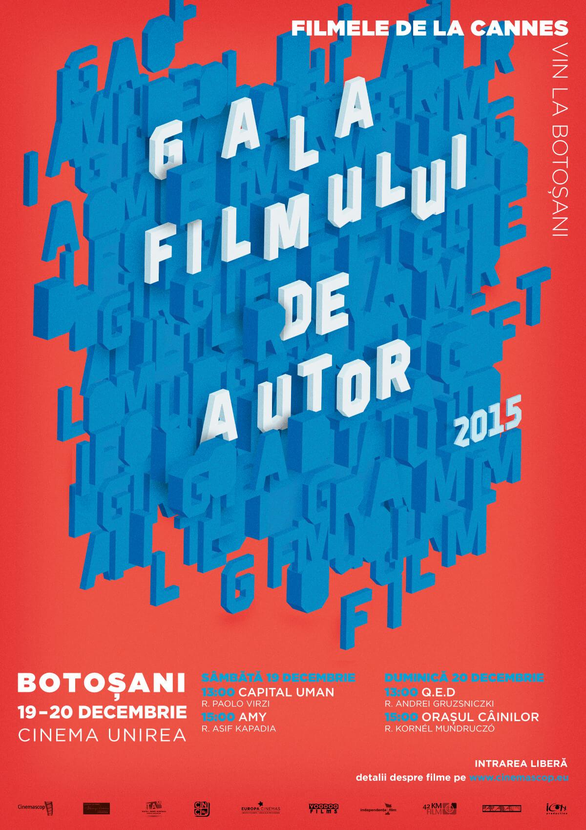 Afiș – Gala Filmului de Autor, Botoșani