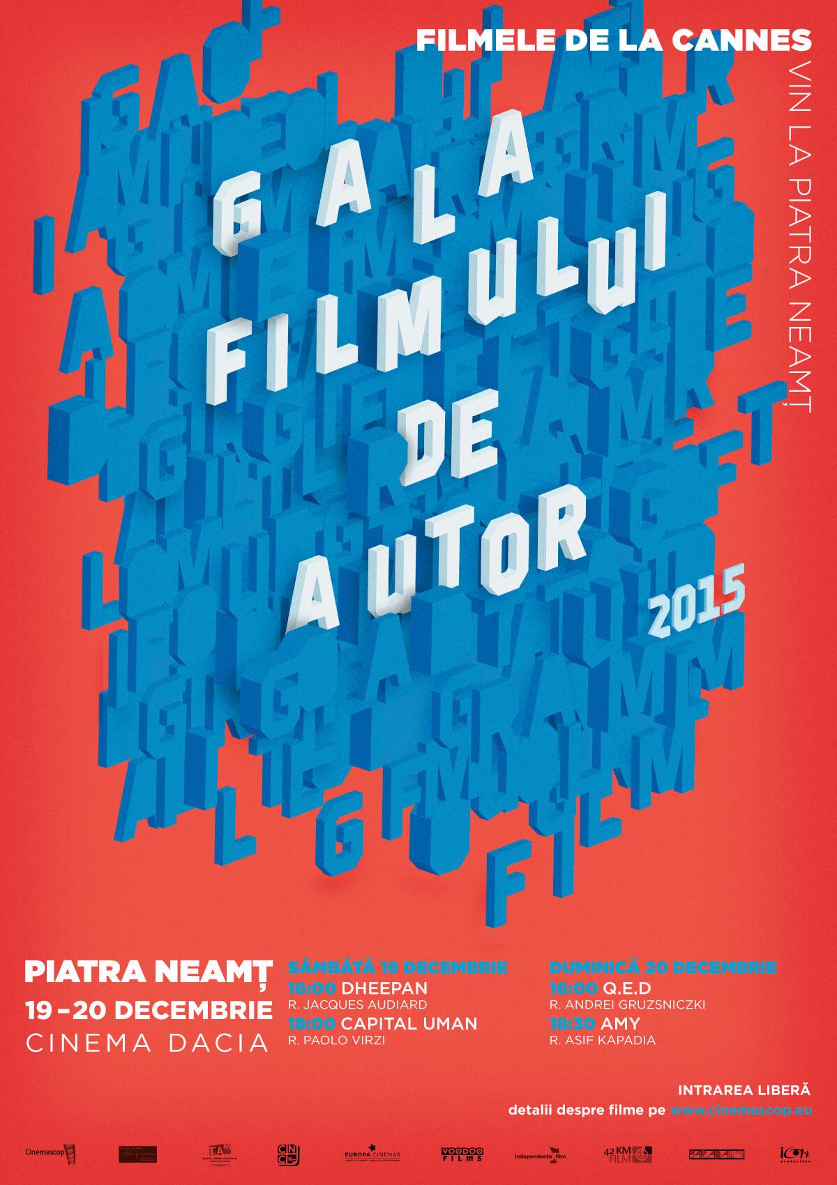 Afiș – Gala Filmului de Autor, Piatra Neamț
