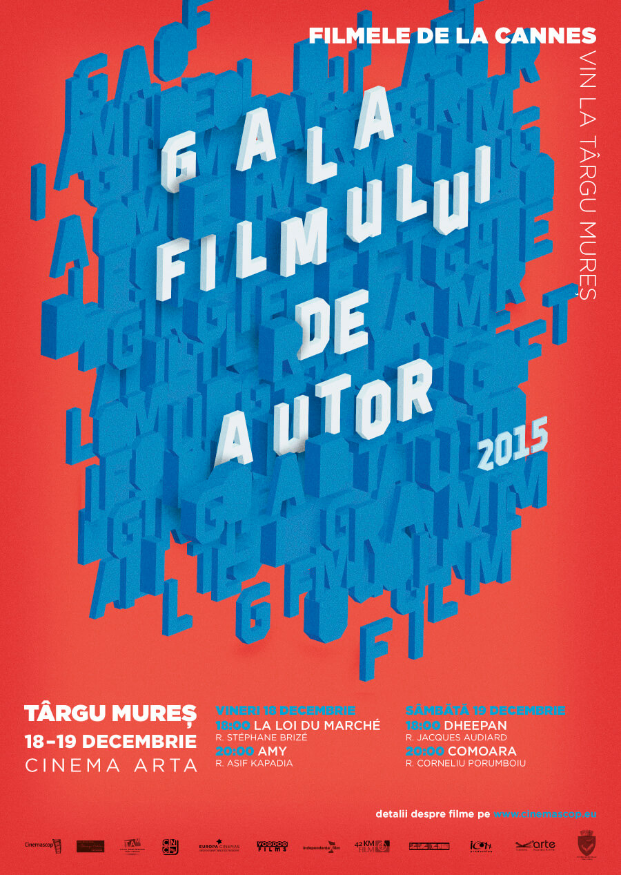 Afiș – Gala Filmului de Autor, Târgu Mureș